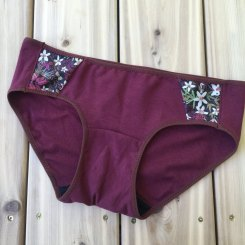 wine red panty